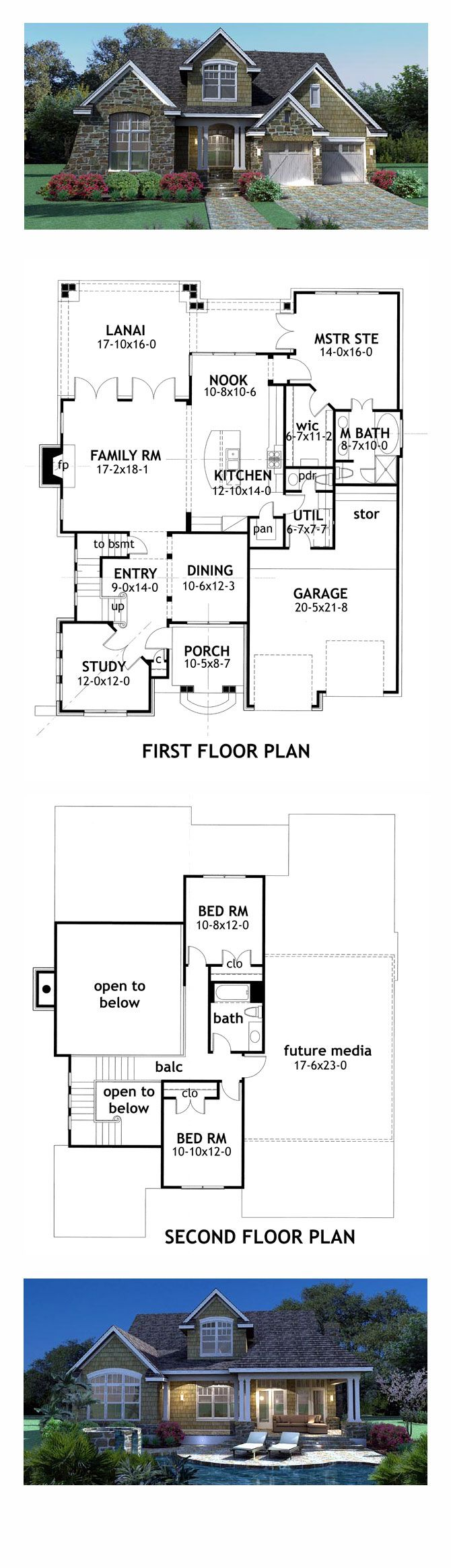 Craftsman House Plan 65868 | Total Living Area: 2143 sq. ft., 3 bedrooms and 2.5 bathrooms. #craftsmanhome