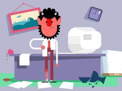 Krampus in the office3