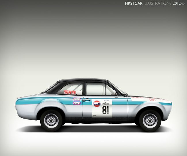 1968 - FORD ESCORT RALLY - firstcar illustrations