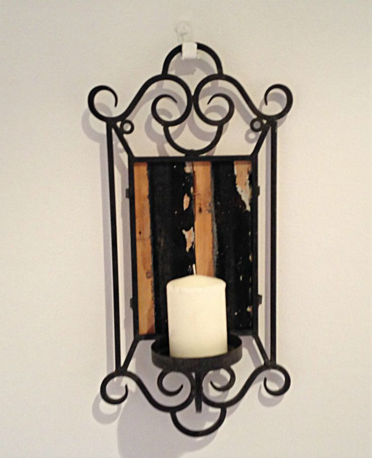 Hanging Candle with Stunning Wood