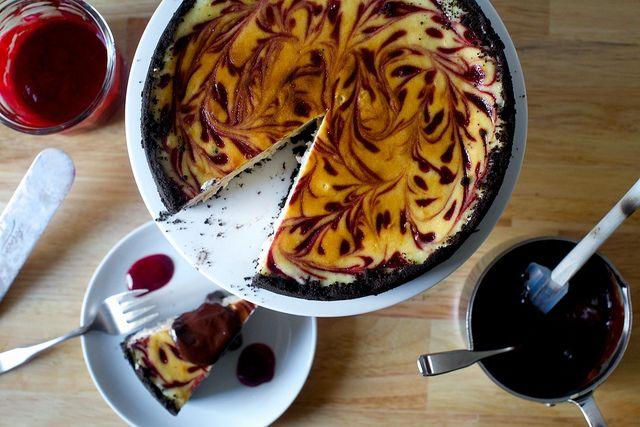 raspberry swirl cheesecake by smitten, via Flickr