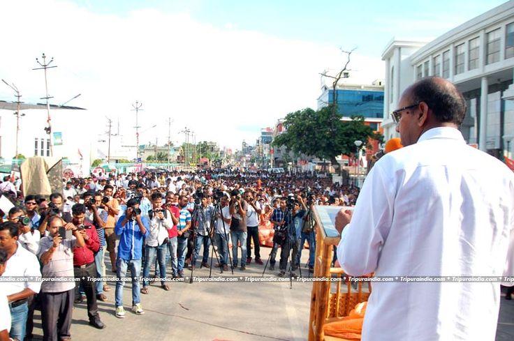 Central Minister Ananta Gitte delivered Speech in BJP Rally at Sukantala Road Agartala on 17 June 2016 http://www.tripuraindia.com/