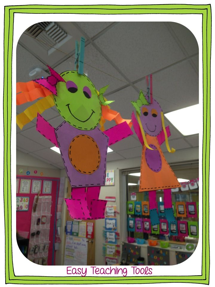 How fun are these little shape people. Great for kids to show what they know about attributes!
