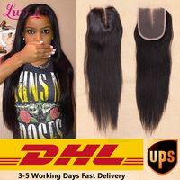7A Peruvian Virgin Hair Closure 3 Part Peruvian Lace Closure Free Part Human Hair Closure Piece Lumina Hair Straight Clousure