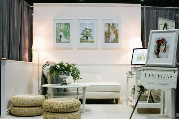 beautiful trade show booths | Trade Show Inspiration: Lani Elias Love how clean and simple it is!