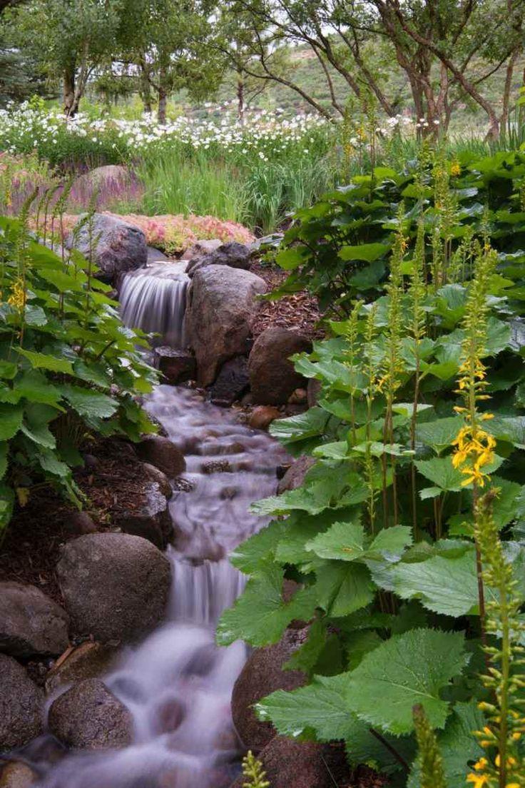 Wasserspiel im Garten - Je üppiger die Pflanzen, desto natürlicher wirkt der Bach