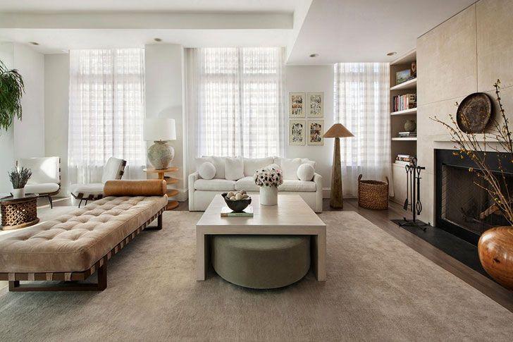 Нью-Йоркская квартира ценителей искусства | Произведения современного искусства в интерьере квартиры в США