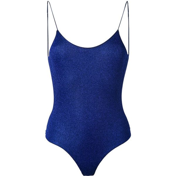 Oseree lurex swimsuit (620 BRL) ❤ liked on Polyvore featuring swimwear, one-piece swimsuits, blue, swimming costume, swim costume, blue swim suit, blue bathing suit and bathing suit swimwear