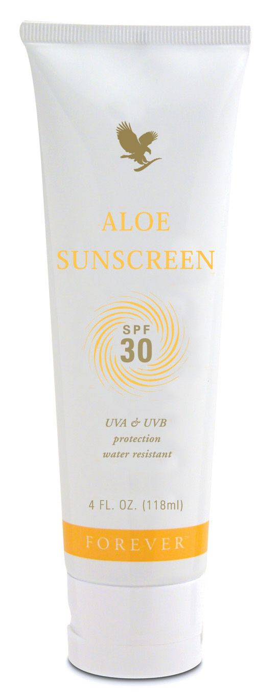 http://myflpbiz.com/globalsuccess  Forever Living - Aloe Sunscreen. SPF30, a silky smooth formula that retains SPF for 40 minutes in water. Soothes and protects against sun and wind, also makes an ideal aftersun.