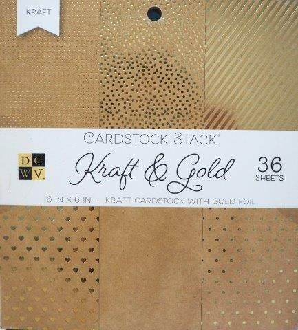 Cardstock Stack Craft Gold Foil 6 x 6 DCWV