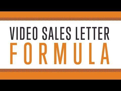 Video Sales Letter Formula - YouTube