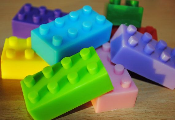 Lego Brick Type Soap x 6 by NerdySoap on Etsy