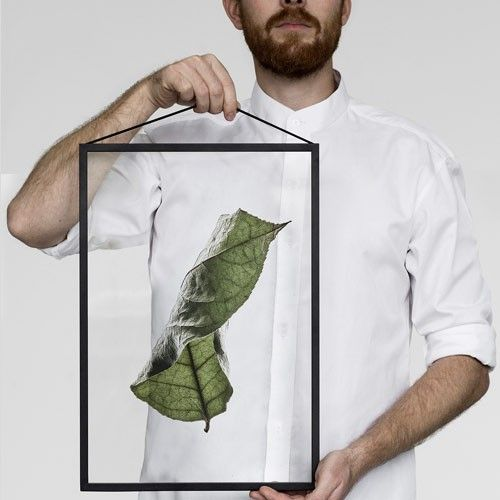 Moebe Floating Leaves 04 voor Moebe Frame A4. Een mooi, halftransparant gestyleerd bladmotief. Een ontwerp van het Deense label Moebe en Paper  Collective by Norm Architects. Kom langs in onze winkel om te kijken naar de Moebe Frames en bijpassende Floating Leaves Prints.