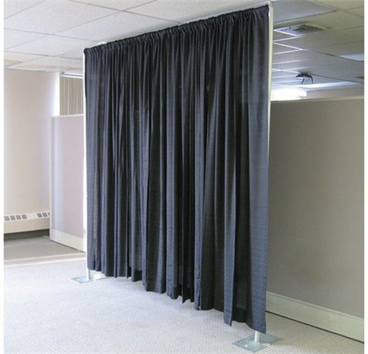 Pipe And Drape To Cover Ugly Walls Office Space To Party