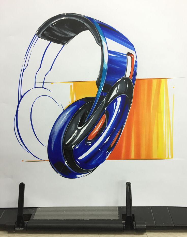 Headphone marker rendering