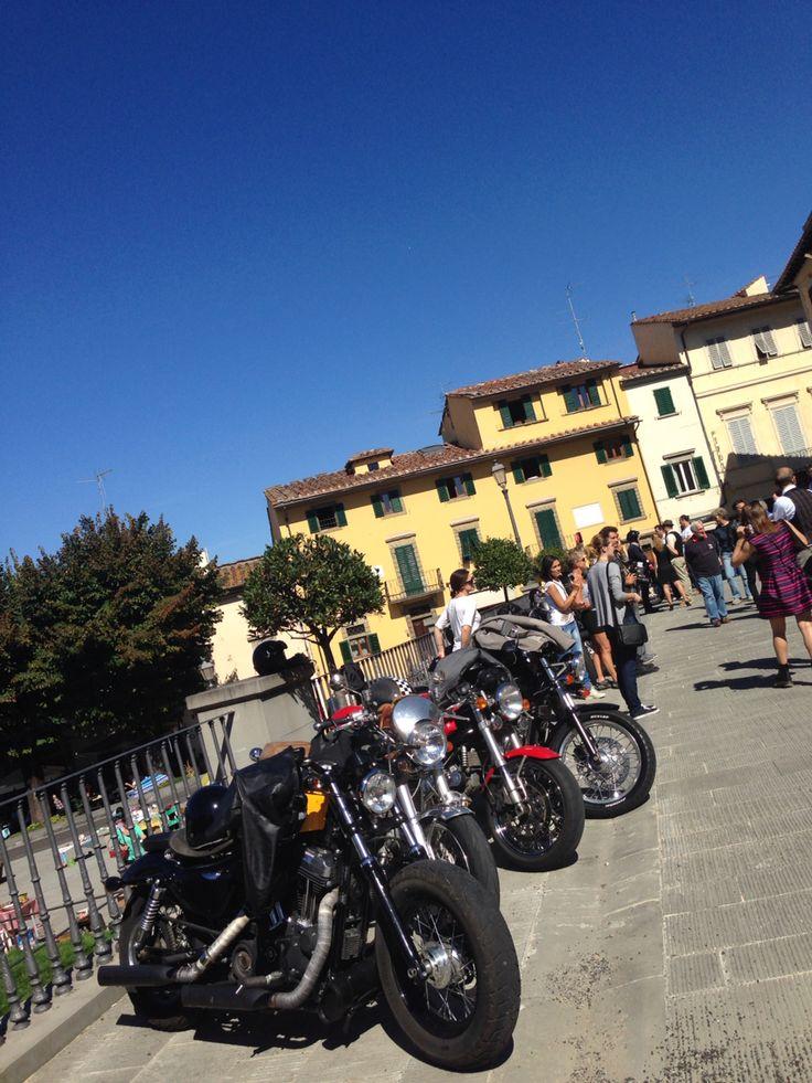 Raduno moto a Fiesole
