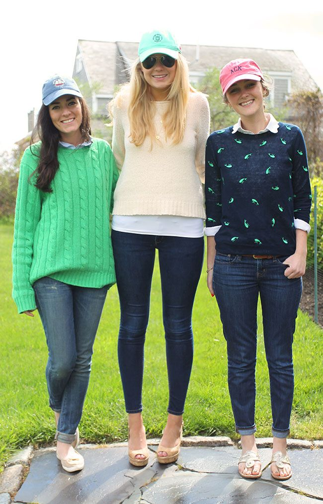 good preppy sweater outfits pattern