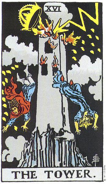 Tower: Majorarcana, Towers, Tarot Cards, Fire Tarot, Major Arcana