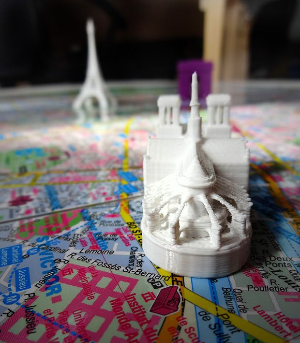 3d printed most famous paris buildings, printed on pirx printer