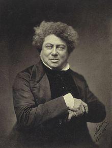 Alexandre Dumas (père) est un écrivain français (1802 -1870). Proche des romantiques et tourné vers le théâtre, Alexandre Dumas écrit d'abord des vaudevilles à succès et des drames historiques. Auteur prolifique, il s'oriente ensuite vers le roman historique telles que la trilogie Les Trois Mousquetaires (1844), Vingt ans après (1845) et Le Vicomte de Bragelonne (1847), ou encore Le Comte de Monte-Cristo (1844 -1846) et La Reine Margot (1845).