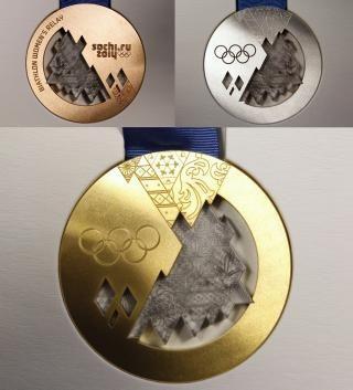 Presentadas las medallas de los Juegos Olímpicos Sochi 2014
