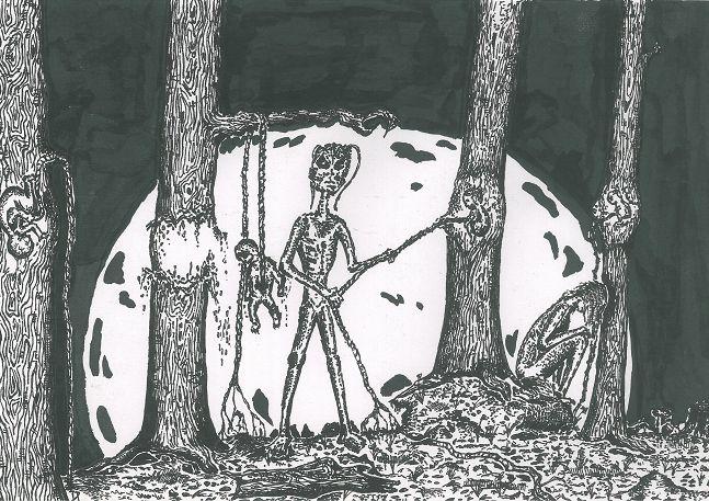 Fetus in tree by ARTofTWINS