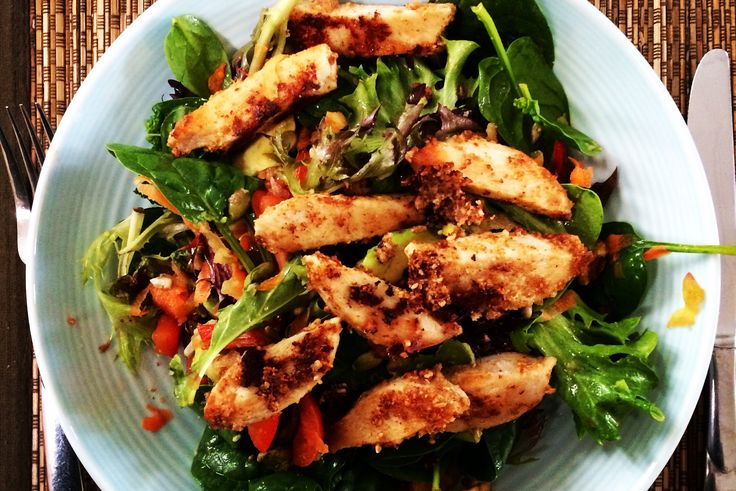 This deliciously fresh and healthy chicken and pistachio salad is high in protein and so easy to make.