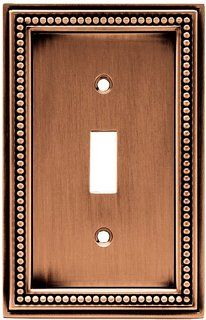 liberty beaded 1 toggle switch wall plate aged brushed the home depot