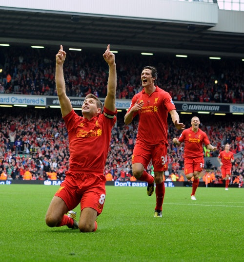 This one is for the 96...Steven Gerrard after scoring his goal