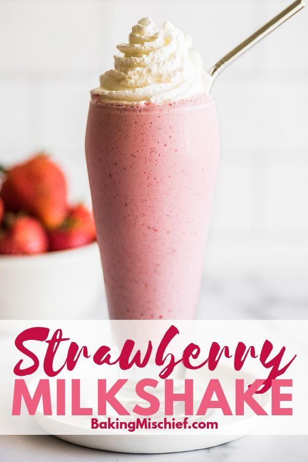 How To Make The Best Strawberry Milkshake With Fresh Or Frozen Strawberries Milks Smoothie Recipes Strawberry Strawberry Shake Recipe Milkshake Recipe Easy