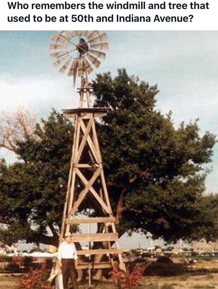 Lubbock...old farm windmill at 50th and Indiana