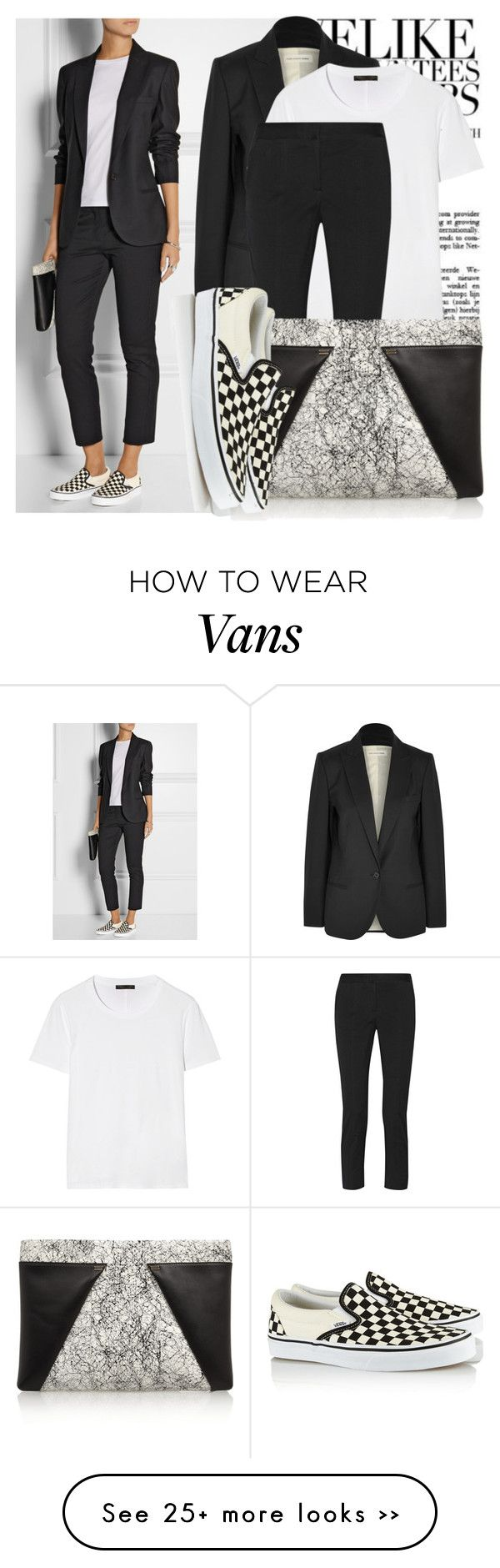 """VANS Checked canvas slip-on sneakers"" by martso on Polyvore"