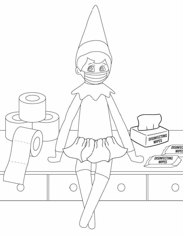 3 Elf On The Shelf Coloring Pages Freebie Finding Mom Coloring Pages Christmas Coloring Sheets Christmas Coloring Pages