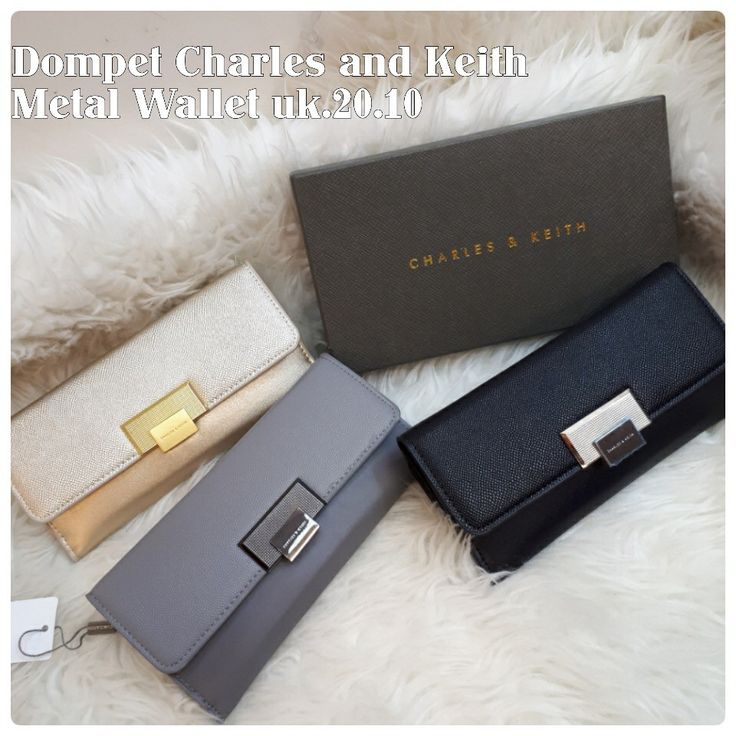 Dompet Charles and Keith Metal Wallet Ori 7167 20x10 190rb