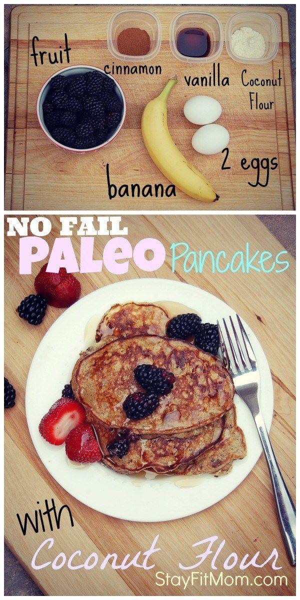NO FAIL Paleo Pancakes; Gluten Free   – Healthy food!