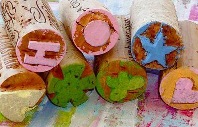 Neat homemade cork stamps for kids by @Ashley Hackshaw!