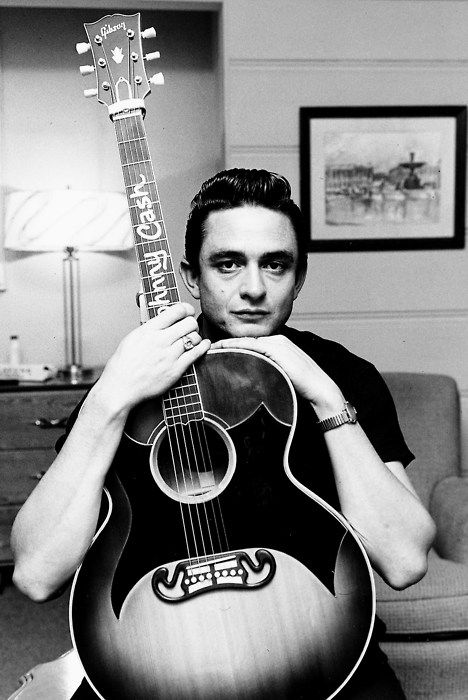 Johnny Cash, lucky he made it through all the drugs, a true legend to be…