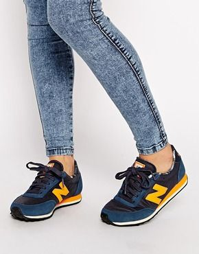 Enlarge New Balance 410 Suede/Wax Canvas Blue Trainers