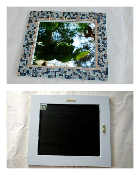 Decorative Mosaic Mirror Wall Art by GreenStreetMosaics on Etsy, $85 ...