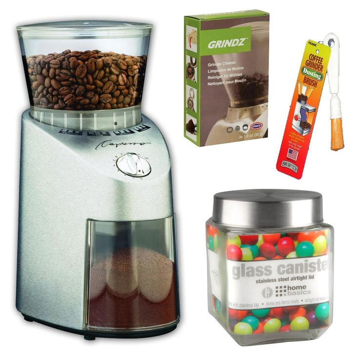 Capresso 560.04 Capresso Infinity Commercial Grade Conical Burr Grinder   3-pack 35G Grindz Coffee Grinder Cleaner   Coffee Grinder Dusting Brush   Accessory Kit ** Learn more by visiting the image link.