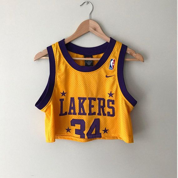 This Is A Reworked Cropped La Lakers Retro Basketball Jersey Womens Small This Jersey Is In Overall Basketball Jersey Outfit Gameday Outfit Lakers Outfit
