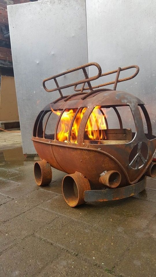 VW BULLY Fire Pit Outdoor #bestchoice