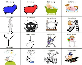 Where Is The Green Sheep? book activity (speech therapy)