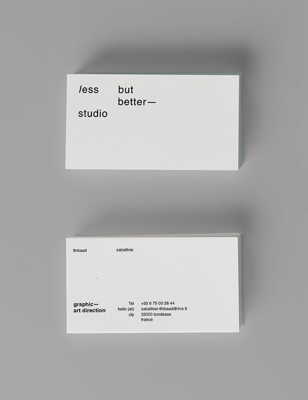 165 best identity business card images on pinterest brand less but better featured branding reheart Images