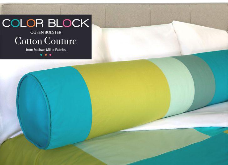 michael miller cotton couture color block queen bolster pillow sew4home sewing pinterest michael miller pillows and tutorials
