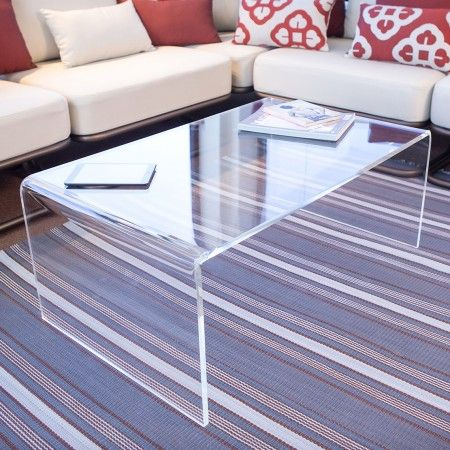 Acrylic side table 120x50 h:40 - Tavolino in plexiglass da salotto - #acrylic…