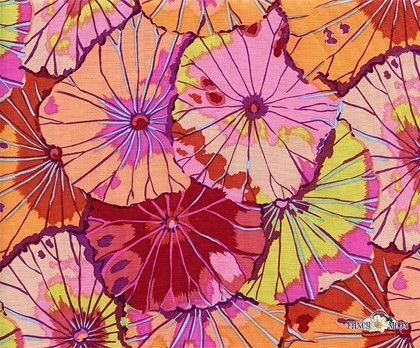 Lotus Leaf Cotton Fabric by Kaffe Fassett