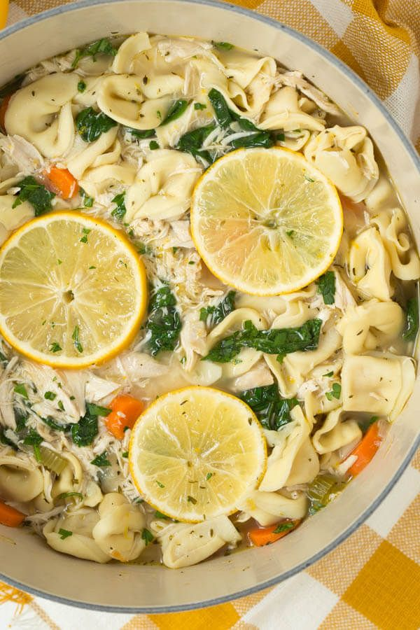 One Pot Lemon Chicken Tortellini Soup with Greens is made with the freshest ingredients and comes together in little time.