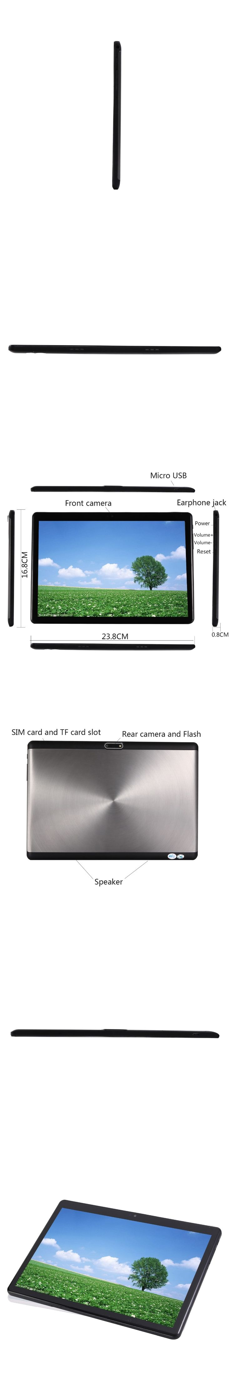 BMXC Newest 10.1 inch  Android 7.0 10 Core Tablet 4G LTE Dual SIM Phone Call 64GB ROM 4GB RAM WIFI bluetooth GPS Tablet PC 10