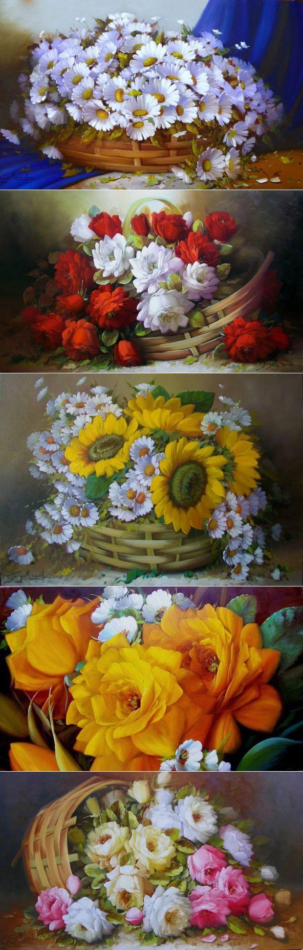 Мир цветов от Jorge Maciel | искусство | Постила